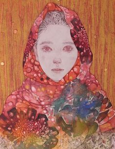 Art Chinois, Japan Painting, Japan Art, Portrait Art, Portraits, Unique Art, Art Inspo, New Art, Amazing Art