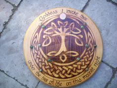 Pyrography tree of life by WOODEWYTCH.deviantart.com on @deviantART