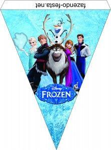 Frozen free printable bunting.