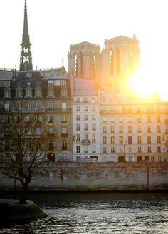 Notre Dame Sunset, Paris (by H. Paris Canal, Paris City, Paris Paris, Paris Travel, France Travel, Most Beautiful Cities, Beautiful World, Places To Travel, Places To Go