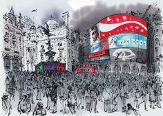 David Gentleman on his year drawing London - gallery London Life, London Art, David Gentleman, A Level Art, Urban Sketchers, Plein Air, Map Art, Creative Art, Landscape Paintings