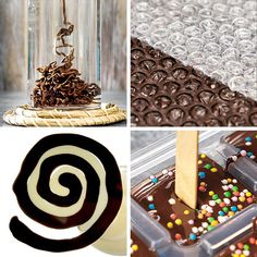 Sweet chocolate hacks for chocoholics! 🍫🍫🍫- Sweet chocolate hacks for chocoholics! 🍫🍫🍫 Rocky Mountain Chocolate Factory is an international… - Decoration Patisserie, Dessert Decoration, Cake Decorating Videos, Cake Decorating Techniques, Cake Decorating Frosting, Decorating Tips, Kreative Desserts, Chocolate Art, Chocolate Factory