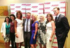Daytime divas Kathie Lee & Hoda celebrate the unveiling of their AARP The Magazine summer fun cover at Le Bernadin with love from their fellow Today cohosts and producers!