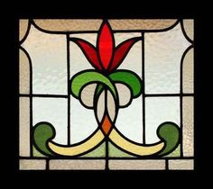 Stunning Art Nouveau Flower Stained Glass Window   eBay #StainedGlassHouse #StainedGlassMandala