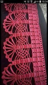 Resultado de imagem para entremeios crochet MILLE A MINUTE Lace Patterns, Crochet Edging Patterns, Crochet Motifs, Crochet Squares, Filet Crochet, Crochet Designs, Crochet Stitches, Crochet Lace, Crochet Trim