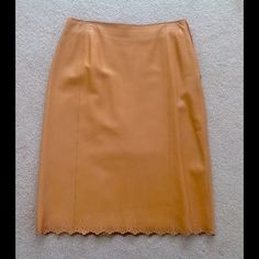 "Selling this ""Anne Klein 2 - vintage tan leather pencil skirt"" in my Poshmark closet! My username is: belladonna888. #shopmycloset #poshmark #fashion #shopping #style #forsale #Anne Klein #Dresses & Skirts"