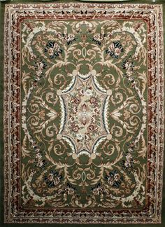 Good Traditional Pattern Sage Rugs   Discount Rugs USA 8024green