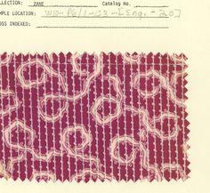 Late 19th century textile swatch. #print #pattern #design #fashion #crafts #art #textile #fabric #vintage #victorian