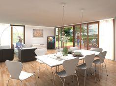 The bright, spacious dining sliding doors