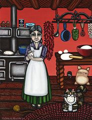 Southwestern Art - Abuelita or Grandma  by Victoria De Almeida