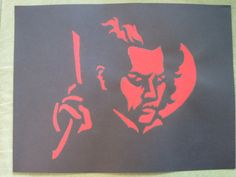 Sweeney Todd Stencil Painting by PlusOneCrafting on Etsy, $8.00