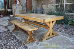 There's something about 4×4 lumber that makes furniture look amazing. Maybe it's the sturdiness, maybe it's the shape. Whatever it is, I love it! A friend of mine rece…