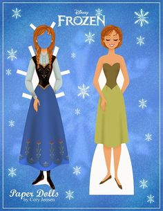 Frozen: Mu�ecas de Papel para Imprimir Gratis.