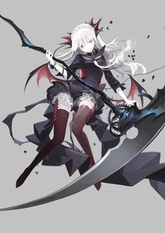 Safebooru is a anime and manga picture search engine, images are being updated hourly. Art Manga, Manga Girl, Anime Art Girl, Manga Anime, Anime Girls, Grey Hair Anime Girl, Fantasy Anime, Fantasy Girl, Dark Anime