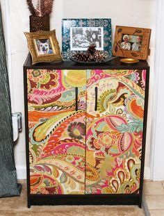 Modernize Cheap Furniture: DIY Bookshelf and Furniture Redo with Fabric
