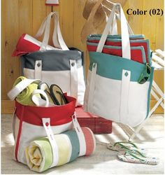 I could make this...nice gifts.....Tag Canvas Beach Tote Bag – $10.17 (Retail 36.00) @ SierraTradingPost.com