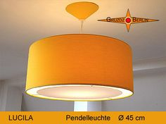 Hängelampen - Pendellampe gelb LUCILA Ø45 cm Diffusor Lichtrand - ein Designerstück von Gruzdz-Berlin bei DaWanda
