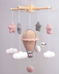 Amigurumi Mobiles – Inspirations – My Crochet World The post Amigurumi Mobiles – Inspirations – My Crochet World appeared first on Welcome! Crochet World, Crochet Baby Mobiles, Crochet Mobile, Crochet Amigurumi, Crochet Toys, Baby Patterns, Crochet Patterns, Crochet Monkey, Crochet Video