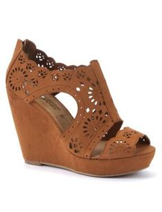 Tan Cut Out Cage Wedges from New Look £29.99. my new obsession, LOVE LOVE LOVE these. with denim shorts, maxi dress or a pretty floral tea dress