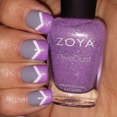Vegas Bachleorette weekend!!! The wedding colors are purple/gray #notd #cnlc #crazynailladyclub #michellemealey #sandgnails #nailsofinstagram #nailartwow #nails2inspire #lacquerlovers #luvnailpolish #chelsgc #dailydigits #hairandnailfashion #craftyfingers #awesomenails #dailynailart #hairnailsdiary #nailoftheday #nailsoftheday #fckyeahnailart #nailartappreciation #weloveyournailart #nails #nailitmag #nailartohlala #nailartjan #chevronnails #zoyastevie http://http://@Zoya Zinger Zinger Zinger…