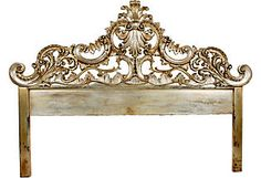 I Love The Silver Gold Leaf Paint They Used On This Headboard
