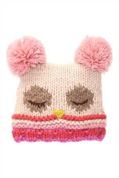 Younger Girls Pink Owl Jester Hat