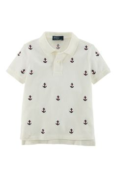 Anchor Embroidered Polo for the little sailor