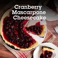 Delicious cheesecake made with Sugar In The Raw® and Stevia In The Raw® baked on a chocolate cookie crust and topped with a tart cranberry-orange sauce. Thanksgiving Desserts, Holiday Desserts, Just Desserts, Holiday Recipes, Delicious Desserts, Yummy Food, Cheesecake Recipes, Dessert Recipes, Pumpkin Cheesecake