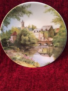 1987 Limoges French Landscapes Collection Plate By Michel Julien