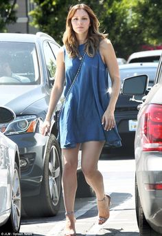 A walk in the stylish side: Katharine McPhee put on a leggy display in West Hollywood, Cal...