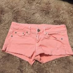 AEO™ Pink Cutoff shorts These shorts aren't necessarily jean material, they're very soft and stretchy American Eagle Outfitters Shorts