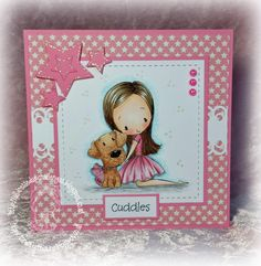 Handmade by Christine: A cuddle makes it all better... All Dressed Up stamps