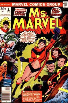 First told origin of Carol Danvers as Ms Marvel. Carol Danvers will be Captain Marvel in the soon-to-be-released Marvel movie. Marvel in fine to very fine condition. Very nice complete copy with no missing pages and nothing clipped out. Marvel Comics, Marvel Comic Books, Comic Book Heroes, Marvel Characters, Comic Books Art, Star Comics, Carol Danvers Captain Marvel, Ms Marvel Captain Marvel, Miss Marvel