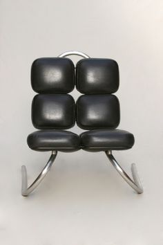 Jean Dudon; Chromed Tubular Metal 'Ant' Chair, 1970.