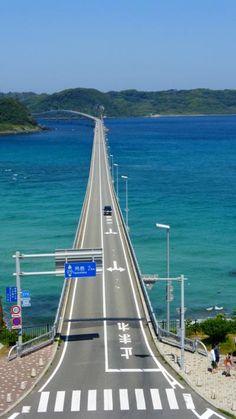 山口《あの綺麗な日本海に架かっている、角島大橋+下関周辺》&小倉1泊2日の旅【ビュースポットの道路から見た、角島大橋と周辺の海編】(2014年5月)…