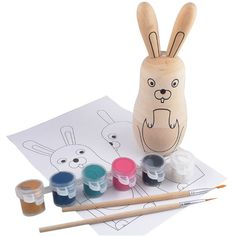 Adorable paint your own Easter bunny kit. Perfect Easter gift!