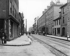 Hollis Street, Halifax, NS, about 1915 Halifax Map, Devon Uk, Nova Scotia, Oc, Street View, Canada, Travel, Viajes, Destinations