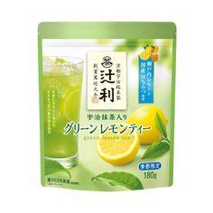 Kataoka Green Lemon Tea Made in Japan Japanese Green Tea Matcha, Matcha Green Tea, Japanese Pudding, Uji Matcha, Japanese Drinks, Fruit Tea, Beverage Packaging, Packaging Design, Lemon