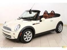 #mini cooper white sidewalk convertible