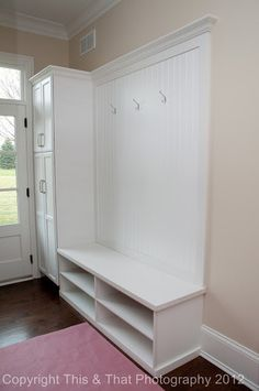 Entry Closet -- need to leave space for strollers