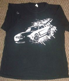 Ford Mustang T-shirt Boss 302 L black EUC Excellent used Condition 2 sided tee #Anvil #GraphicTee