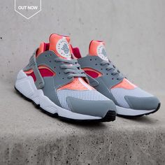 Nike Air Huarache: Grey/Pink