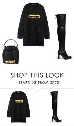 """Moschino"" by angel28290826 ❤ liked on Polyvore featuring Alexander Wang, Stuart Weitzman and Moschino"