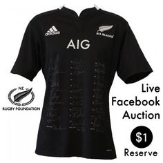 An official All Black Jersey signed by the entire 31 player squad and coaches of June 2014 Steinlager series.  In defeating England 3 tests to nil the All Blacks are now tied on 17 for the most consecutive wins by an international tier one nation. Own this very limited piece of history.  Kindly