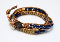 SALE 50% OFF Wrap Beaded Bracelet Friendship by crystalglowdesign