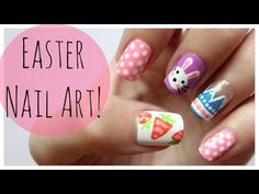 Easter Nail Art!!! | MissJenFABULOUS - http://47beauty.com/nails/index.php/2016/08/12/easter-nail-art-missjenfabulous/ http://47beauty.com/nails/index.php/nail-art-designs-products/  Easy & Cute Easter Nail Art Design! THUMBS UP if you like it!  Want more nail ideas? Check out my entire playlist! http://www.youtube.com/playlist?list=PL2BF6E1304B0F6E0E Nail Stripers: http://amzn.to/Xd9l3k Dotting Tools: http://amzn.to/Ukb0Tp -Blog: http://polishandpearls.com/ -Second chan