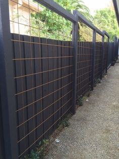 Lawn and Garden Tools Basics Black Cattle Panel Fence. Cattle Panel Fence, Cattle Panels, Cattle Panel Trellis, Trellis Fence, Garden Trellis, Fence Design, Garden Design, Garden Privacy, Garden Screening
