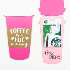 Desk of Confetti Valentine's Day Coffee Cup Gift Card Holder