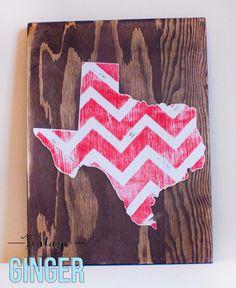 Texas Chevron Wood Sign by shopvintageginger on Etsy