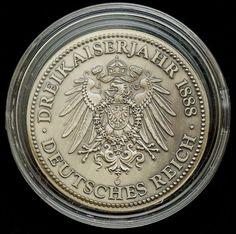 """Numismática Alemanha. """"Deutsches Reich"""", Wilhelm I, 1797-1888 Kaiser, encapsulada, 32mm."""